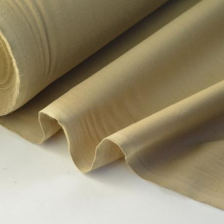 Tissu cretonne coton oeko tex beige au mètre