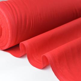 Tissu cretonne coton rouge .x1m