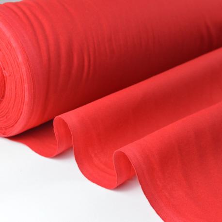 Tissu cretonne coton rouge par 50cm