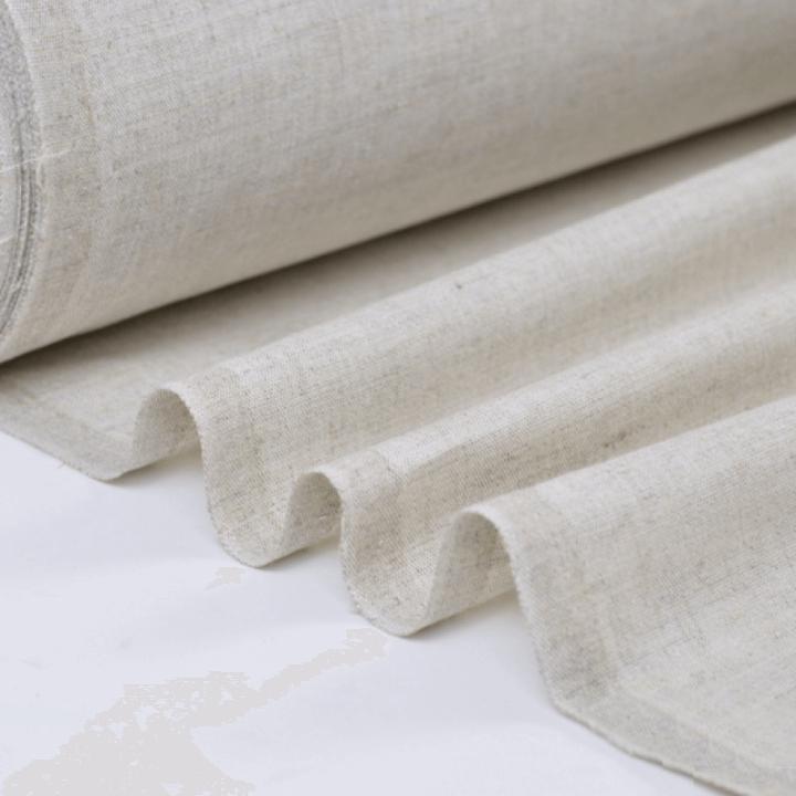Tissu cretonne coton oeko tex coloris Lin au mètre