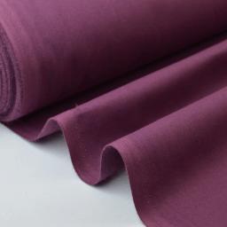 Tissu cretonne coton prune par 50cm