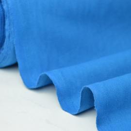 Tissu cretonne coton Bleu Petrole  .x1m