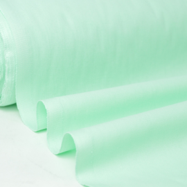 Tissu cretonne coton Menthe .x1m