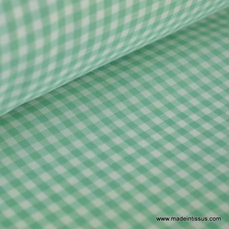 VICHY 50% polyester 50% coton coloris vert10 150cm 110gr/m²