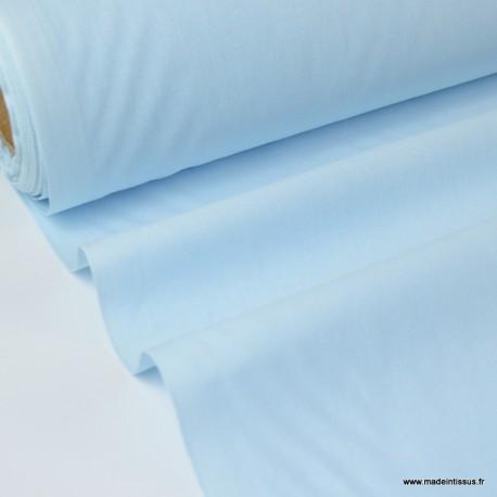 Tissu cretonne coton BLEUCIEL par 50cm