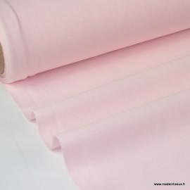 Tissu cretonne coton uni Oeko tex ROSE PALE .x1m