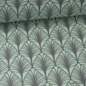 Tissu cretonne coton Oeko tex imprimée feuilles Menthe
