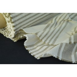 Tissu rayure matelas grande largeur par 50cm