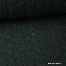 Tissu Jersey matelassé Torsadé coloris Kaki