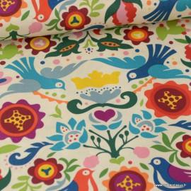 Tissu Popeline coton imprimé Folklorico par Alexander Henry