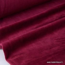 Tissu velours rasé pyjamas nicky bordeaux