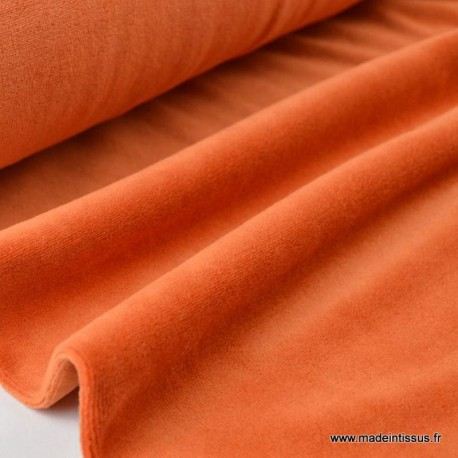 Tissu velours rasé pyjamas nicky Rouille x50cm