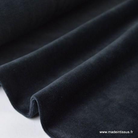 Tissu velours rasé pyjamas nicky Noir x50cm