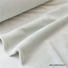 Tissu velours rasé pyjamas nicky Perle .x1m