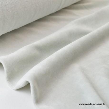 Tissu velours rasé pyjamas nicky Perle x50cm