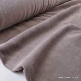 Tissu velours rasé pyjamas nicky Taupe .x1m
