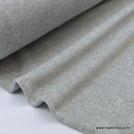 Tissu velours raser pyjamas nicky gris chiné .x1m