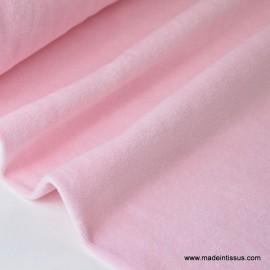 Tissu velours rasé pyjamas nicky rose clair.x1m