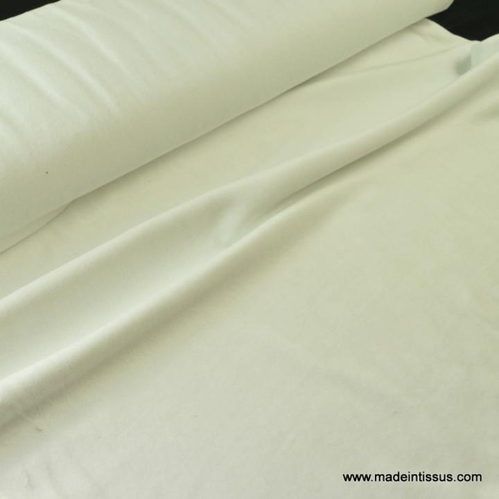 Velours rasé NICKY ECRU03 90%coton 10%pes 150cm 240gr/m²
