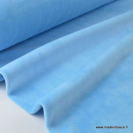 Tissu velours rasé pyjamas nicky bleu . x1m