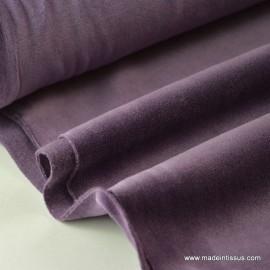 Tissu velours rasé pyjamas nicky violet . x1m