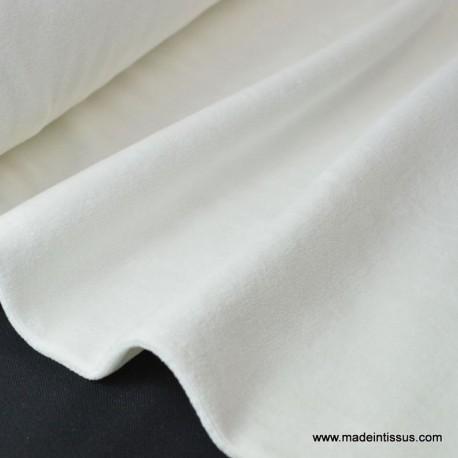Tissu velours raser pyjamas nicky blanc
