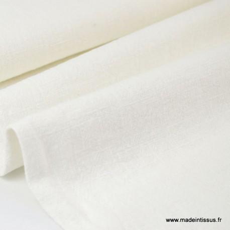 Tissu lin lavé ivoire