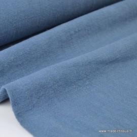 Tissu lin lavé bleu jean