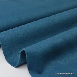 Tissu Lin PETROLE .x1m