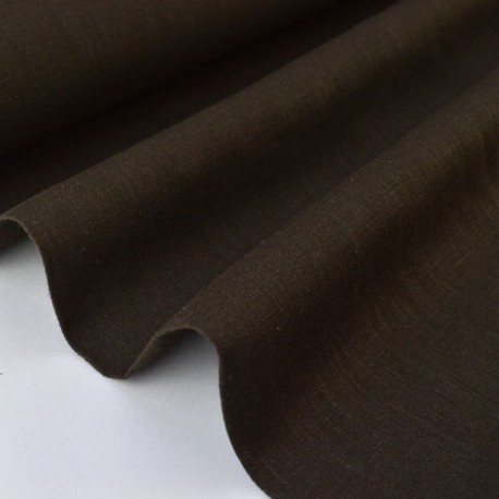 Tissu Lin lavé marron  x50cm