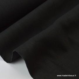 Tissu Lin  noir .x1m