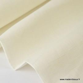 Tissu Lin ivoire .x1m