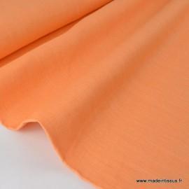 Tissu Lin  saumon .x1m