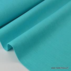 Tissu Lin  turquoise pour confection .x1m