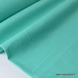 Tissu Lin  vert emeraude pour confection .x1m