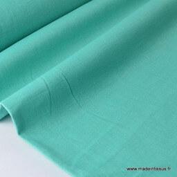 Tissu Lin lavé vert emeraude pour confection x50cm