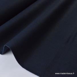 Tissu Lin  marine pour confection .x1m