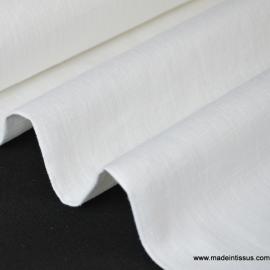 Tissu Lin  blanc pour confection .x1m