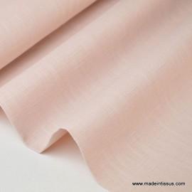 Tissu Lin rose poudré pour confection .x1m