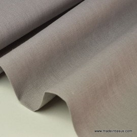 Tissu Lin  gris pour confection .x1m