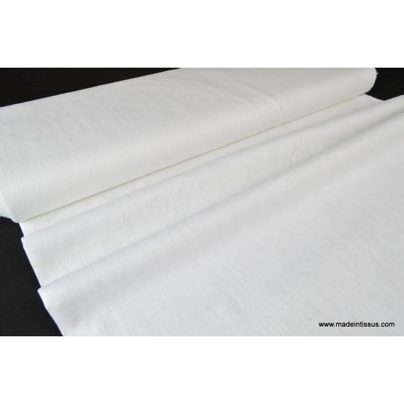 tissu en lin au coloris blanc pour confection habillement. Black Bedroom Furniture Sets. Home Design Ideas