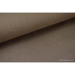 Tissu Lin lavé taupe pour confection x50cm