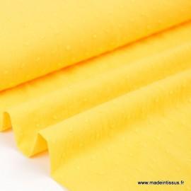 Tissu  plumetis Oeko tex jaune