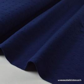 Tissu coton plumetis Oeko tex marine .x1m