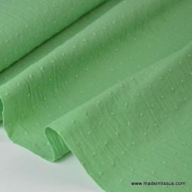 Tissu plumetis Oeko tex vert .x1m