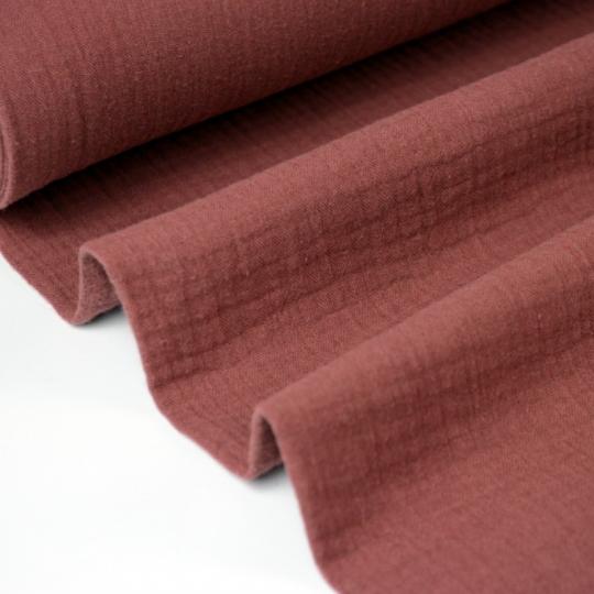 Tissu Double gaze coton tomette