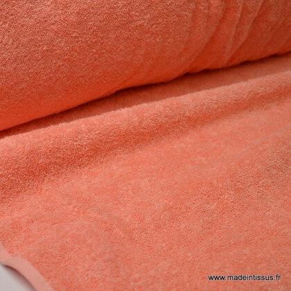 Tissu Eponge 100% coton corail lisiere cousue au mètre