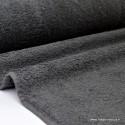 Tissu Eponge coton Gris Ardoise lisiere cousue fermée