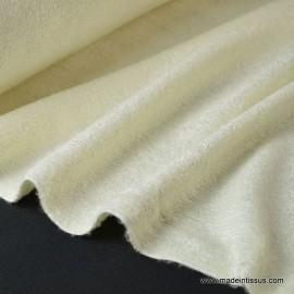 Tissu Eponge de bambou double face indemaillable ivoire.