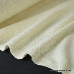Tissu Eponge de bambou coloris ivoire au mètre